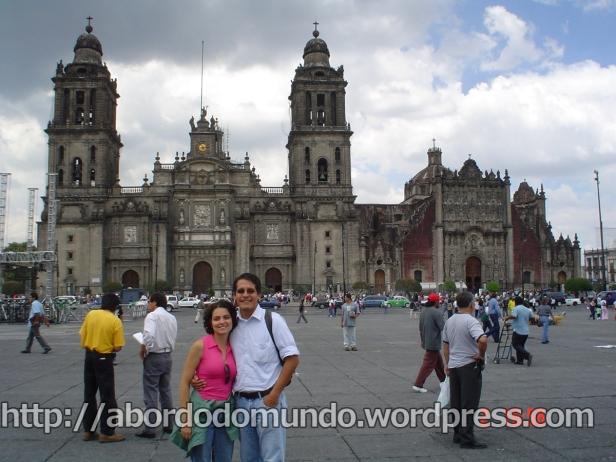 Com Poncho, na Cidade do México