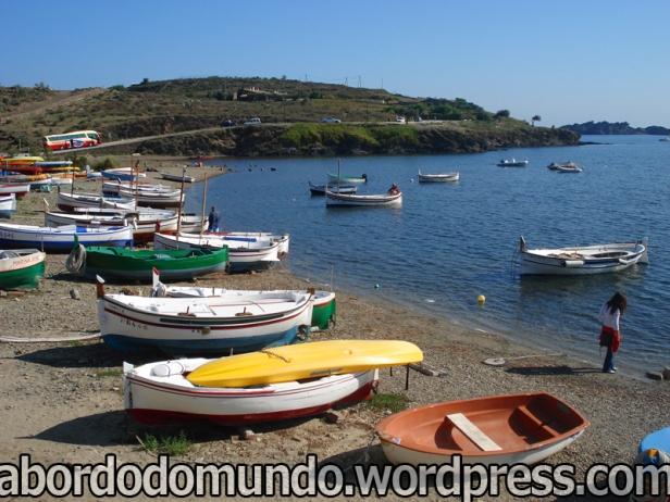 Port Lligat, povoado na costa Catalã, onde Dali tinha uma casa...