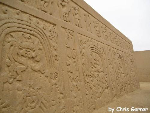 Trujillo- ruína de construções em areia (foto do amigo Chris)