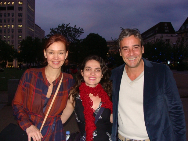 Com Julia Lemertz e ALexandre Borges em Londres