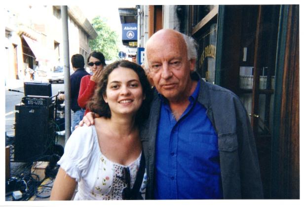 Com Eduardo Galeano, em Montevideu