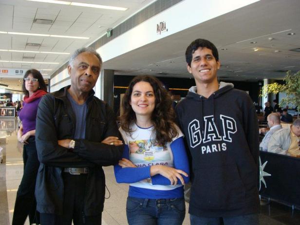 Com Gilberto Gil em Motenvideu