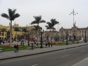 O centro histórico de Lima é patrimônio histórico da Unesco.