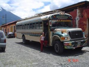 Este tipo de ônibus ainda é muito usado em diversos países latinos