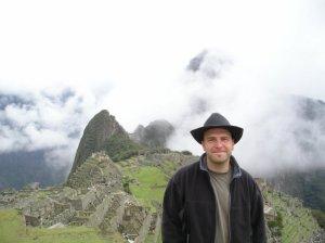 Foto do Chris em Machu Picchu porque eu não tenho foto nenhuma foto minha lá... snif snif