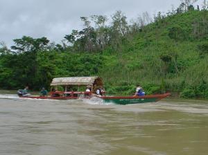 O barquinho no riozão. RIo Usumancita