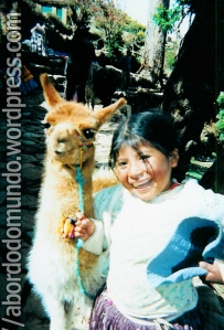 Uma baby llama... Na Isla del sol, Bolivia.