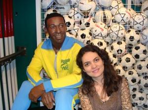 O Brasil está representado no Museu de Cera em Londres: um Pelé jovem.