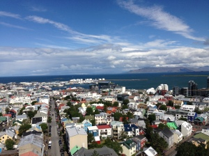 Reykjavik, a capital, vista do alto.