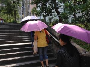 Sombrinhas para se proteger do sol