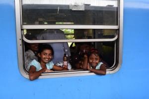 Viagem trem- Kandy Colombo- Sri Lanka
