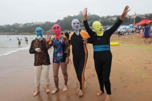 Photo: Wang Haibin/Xinhua Press/Corbis. Essa foto é da China, mas em Hong Kong  a moda também pegou.