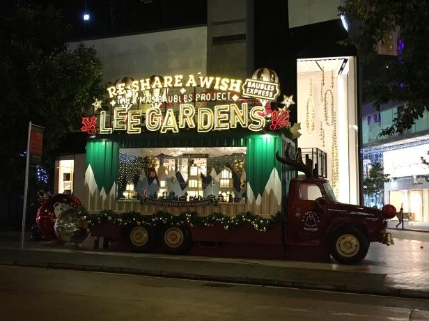 Decoração de Natal nas ruas de Hong Kong