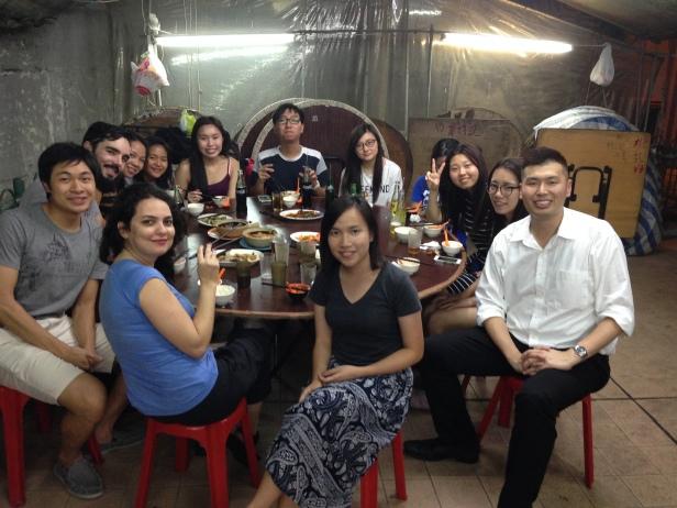 Confraternização da aula de cantonês