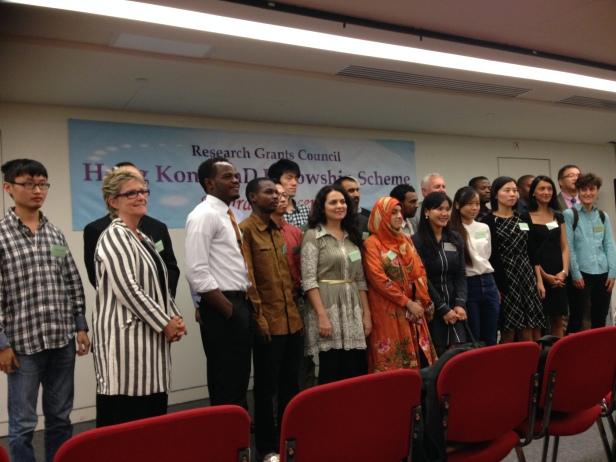 Cerimônia de recebimento da bolsa Hong Kong Fellowship Scheme