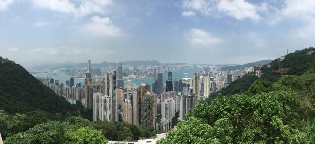 Vista de Hong Kong, com seus arranha-céus, desde o Victoria Peak