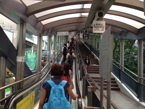 escada rolante Hong Kong-abordodomundo