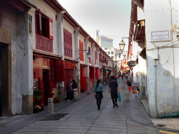 Rua da Felicidade em Macau, onde foi filmado parte do segundo filme do Indiana Jones