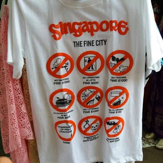 camisa com Singapura is a fine city-abordodomundo