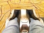 Máquina de massagem gratuita no aeroporto Changi, em Singapura